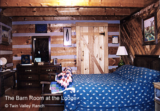 The Barn Room, one of Twin Valley's cozy B&B guest rooms