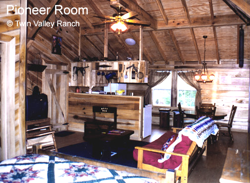 The fully equipped units in the Ranch House are great for couples or families
